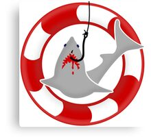 Shark on the hook VRS2 Canvas Print
