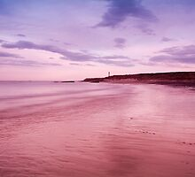 Sunrise over Lossiemouth Lighthouse by mfsutherland
