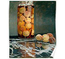 Jar of Peaches - Claude Monet - 1866 Poster