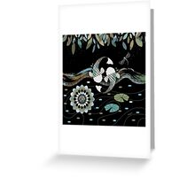 Lucky Koi Mandala Greeting Card