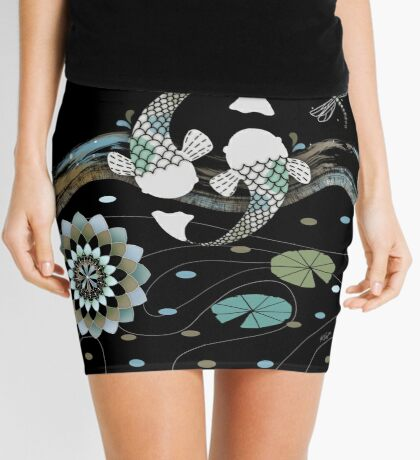 Lucky Koi Mandala Mini Skirt
