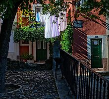 The last shafts of sunlight, Lisbon, Portugal by Andrew Jones