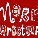 Merry Christmas - Text Design #03 by Silvia Neto