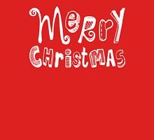 Merry Christmas - Text Design #03 Unisex T-Shirt