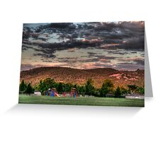 park and hills after the storm Greeting Card