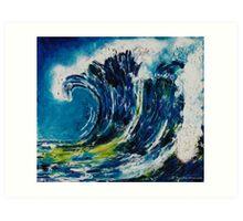 The wave's power 2 Art Print