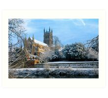 Snow covered Cathedral Art Print