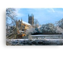 Snow covered Cathedral Metal Print