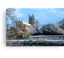 Snow covered Cathedral Canvas Print