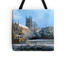 Snow covered Cathedral Tote Bag