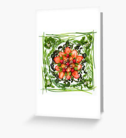 Fresh Fruit Salad Greeting Card