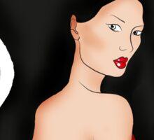 Red Dress Sticker