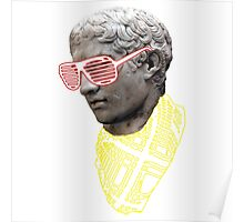 Hipster Greek Statue - Colour Poster