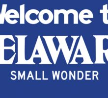 Welcome to Delaware, Road Sign, USA  Sticker