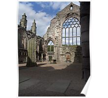 Inside The Ruins Of Abbey Church Of Holyrood, Edinburgh Poster