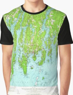 Maine USGS Historical Map Boothbay 460227 1957 62500 Graphic T-Shirt