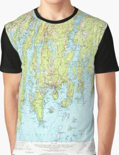 Maine USGS Historical Map Boothbay 460230 1957 62500 Graphic T-Shirt