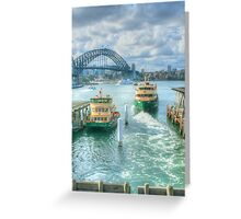 Sydney Harbour from Circular Quay ... HDR Greeting Card
