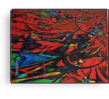 Red is exciting in abstract Canvas Print