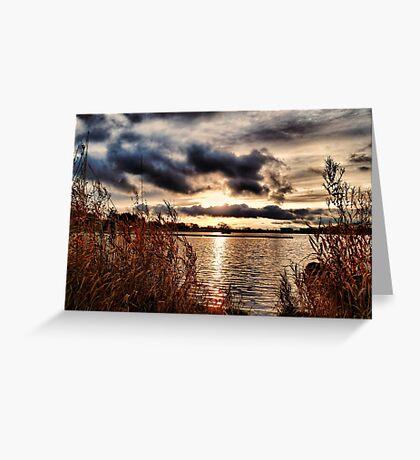 Yeadon Tarn Sunset Greeting Card