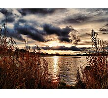 Yeadon Tarn Sunset Photographic Print