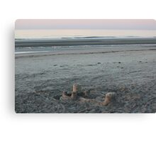 Sandcastle at Dawn Canvas Print