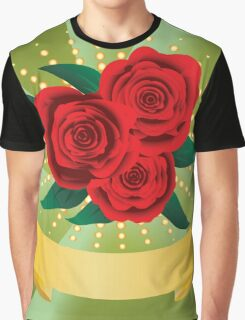 Card with red roses Graphic T-Shirt