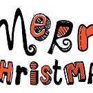Merry Christmas - Text Design #01 by Silvia Neto