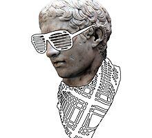 Hipster Greek Statue - Black & White by Chelsea Birrane