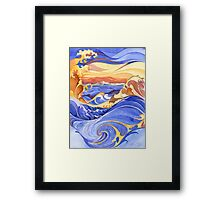 China Seas Framed Print