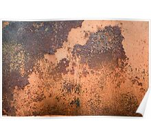 Brown rusty abstract background   Poster