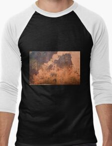 Brown rusty abstract background   Men's Baseball ¾ T-Shirt