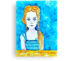 Blue Eyed Mia Canvas Print