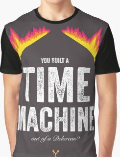 Cinema Obscura Series - Back to the future - Time Machine Graphic T-Shirt