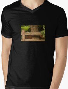 Rail Fence Mens V-Neck T-Shirt