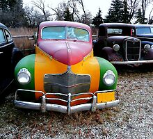 Old Tri-Colored Dodge by Larry Trupp