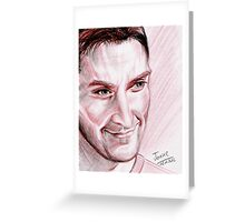 Richard Armitage, red chalk portrait Greeting Card