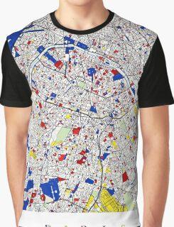 Paris - Mondrian Style Graphic T-Shirt