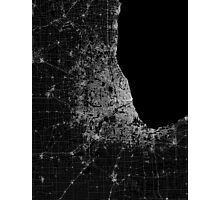 Chicago map lines Photographic Print