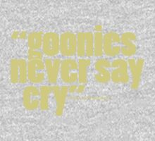 'goonies never say...' One Piece - Long Sleeve