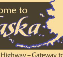 Welcome to Alaska, Road Sign, USA  Sticker