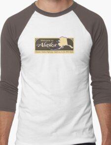 Welcome to Alaska, Road Sign, USA  Men's Baseball ¾ T-Shirt