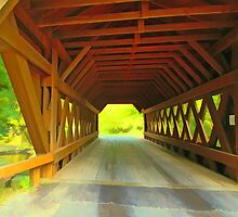 Springwater Covered Bridge,Wisconsin U.S.A. by JohnDSmith