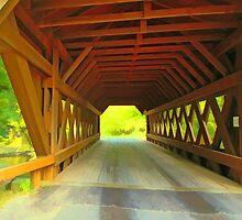 Springwater Covered Bridge,Wisconsin U.S.A. by JohnDSmith