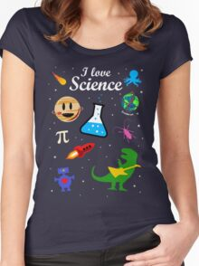 I Love Science Women's Fitted Scoop T-Shirt