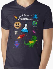 I Love Science Mens V-Neck T-Shirt