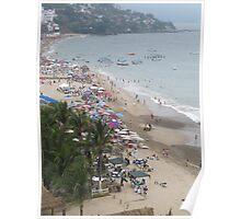 A Part of the 99% Occupied the beach - Una Parte de los 99% Ocuparon La Playa Poster