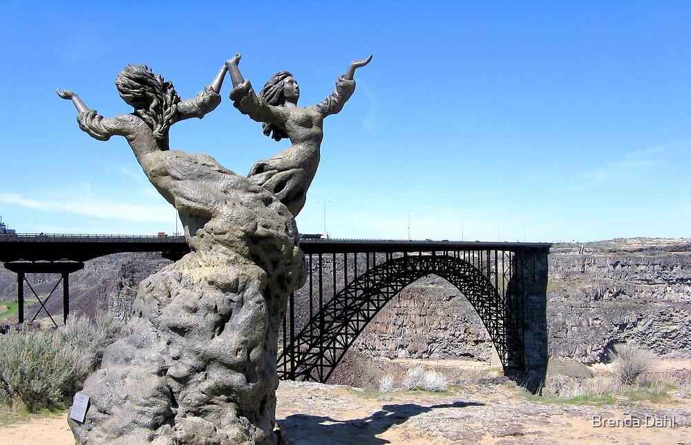 The I.B. Perrine Bridge-Twins-Twin Falls, Idaho; USA by Brenda Dahl