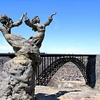 The I.B. Perrine Bridge-Twins-Twin Falls, Idaho; USA by Brenda Dahl