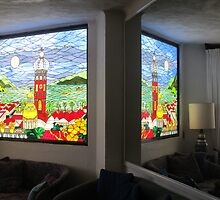 Stained Glass Window in the Mirror - Ventana de Vidrio Enplomado by PtoVallartaMex